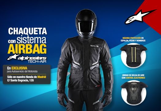 Sistema Tech-Air de Alpinestars, venta exclusiva en Madrid por @ASMotorista