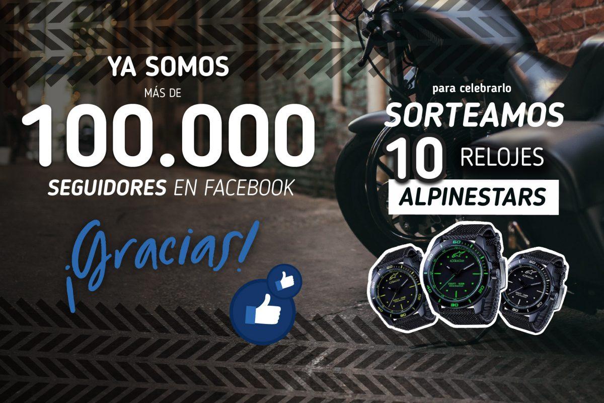 Celebramos con un sorteo que somos 100.000 seguidores en Facebook
