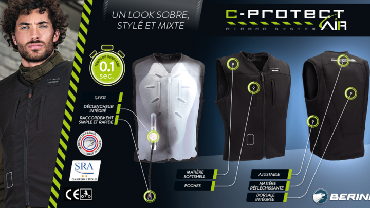 Chaleco con Airbag Bering C-Protect Air Negro